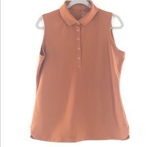 Nike Golf Sleeveless Dri-fit Polo Burnt Orange LNC